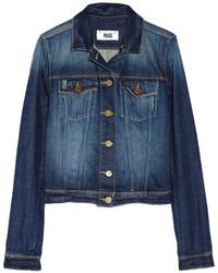 dunkelblaue Jeansjacke von Paige