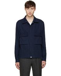 dunkelblaue Jeansjacke von Paul Smith