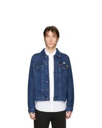 dunkelblaue Jeansjacke von Raf Simons