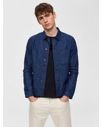 dunkelblaue Jeansjacke von Selected Homme