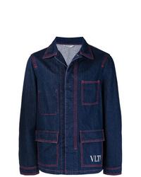 dunkelblaue Jeansjacke von Valentino