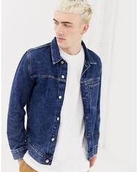 dunkelblaue Jeansjacke von Weekday