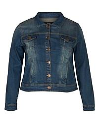 dunkelblaue Jeansjacke von Zizzi
