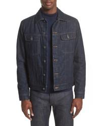 Dunkelblaue Jeansshirtjacke