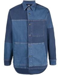 dunkelblaue Shirtjacke aus Jeans von Diesel