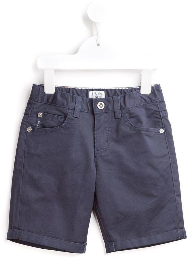 dunkelblaue Jeansshorts von Armani Junior
