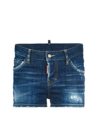 dunkelblaue Jeansshorts von Dsquared2
