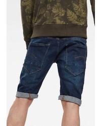 dunkelblaue Jeansshorts von G-Star RAW