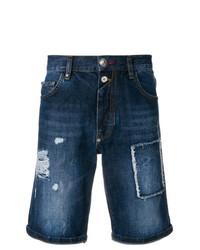 dunkelblaue Jeansshorts von Philipp Plein