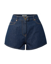 dunkelblaue Jeansshorts von Valentino