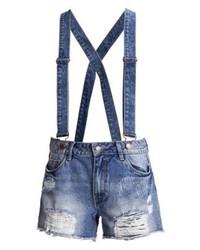 dunkelblaue Jeansshorts von Vila