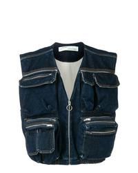dunkelblaue Jeansweste von Off-White
