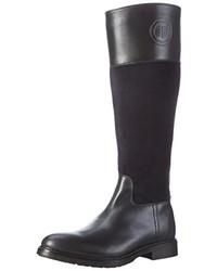 dunkelblaue kniehohe Stiefel von Tommy Hilfiger