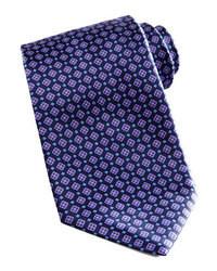 dunkelblaue Krawatte mit geometrischen Mustern