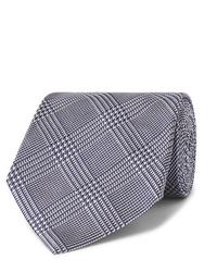 dunkelblaue Krawatte mit Hahnentritt-Muster von Tom Ford