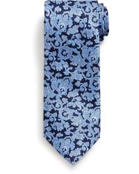 dunkelblaue Krawatte mit Paisley-Muster
