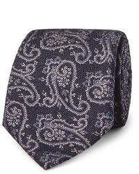 dunkelblaue Krawatte mit Paisley-Muster von Etro
