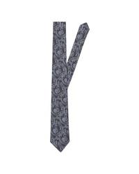 dunkelblaue Krawatte mit Paisley-Muster von Seidensticker