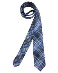 dunkelblaue Krawatte mit Schottenmuster von MAN´S WORLD