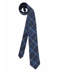 dunkelblaue Krawatte mit Schottenmuster von STUDIO COLETTI