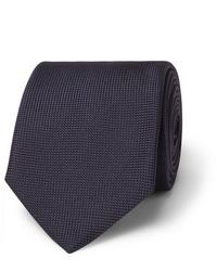 dunkelblaue Krawatte von Brioni