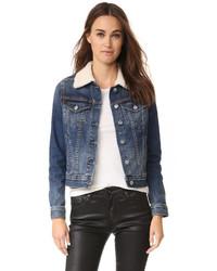 dunkelblaue Lammfelljacke von AG Jeans