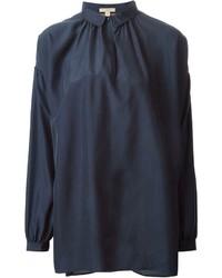 dunkelblaue Langarmbluse von Burberry