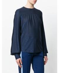 dunkelblaue Langarmbluse von Golden Goose Deluxe Brand
