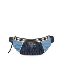 dunkelblaue Leder Bauchtasche von Miu Miu