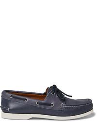dunkelblaue Leder Bootsschuhe von Quoddy