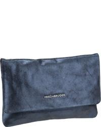 dunkelblaue Leder Clutch von FREDsBRUDER