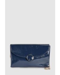 dunkelblaue Leder Clutch von NEXT