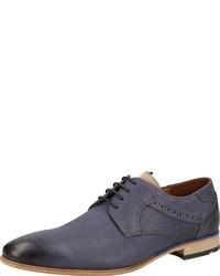 dunkelblaue Leder Derby Schuhe von Lloyd