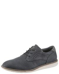 dunkelblaue Leder Derby Schuhe von Tom Tailor