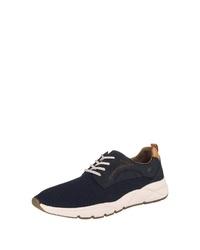 dunkelblaue Leder niedrige Sneakers von camel active