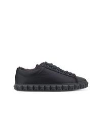 dunkelblaue Leder niedrige Sneakers von Stuart Weitzman