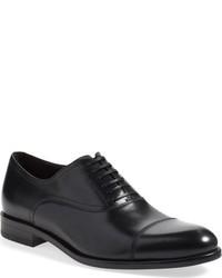 dunkelblaue Leder Oxford Schuhe