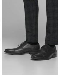 dunkelblaue Leder Oxford Schuhe von Jack & Jones