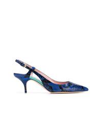 dunkelblaue Leder Pumps von Emilio Pucci