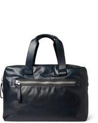 dunkelblaue Leder Reisetasche