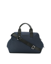 dunkelblaue Leder Reisetasche von Emporio Armani