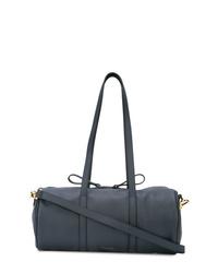dunkelblaue Leder Reisetasche von Mansur Gavriel