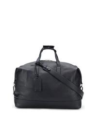 dunkelblaue Leder Reisetasche von Santoni