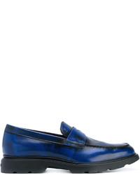dunkelblaue Leder Slipper von Hogan