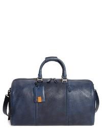dunkelblaue Leder Sporttasche