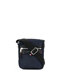 dunkelblaue Leder Umhängetasche von Tommy Hilfiger