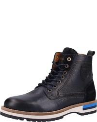 dunkelblaue Lederfreizeitstiefel von Pantofola D'oro
