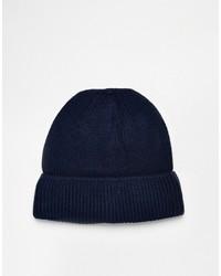 dunkelblaue Mütze von Asos