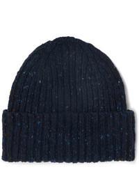dunkelblaue Mütze von Drake's