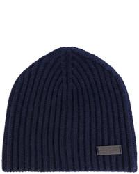 dunkelblaue Mütze von Salvatore Ferragamo